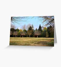Bells among trees - Banyoles (Catalonia) Greeting Card
