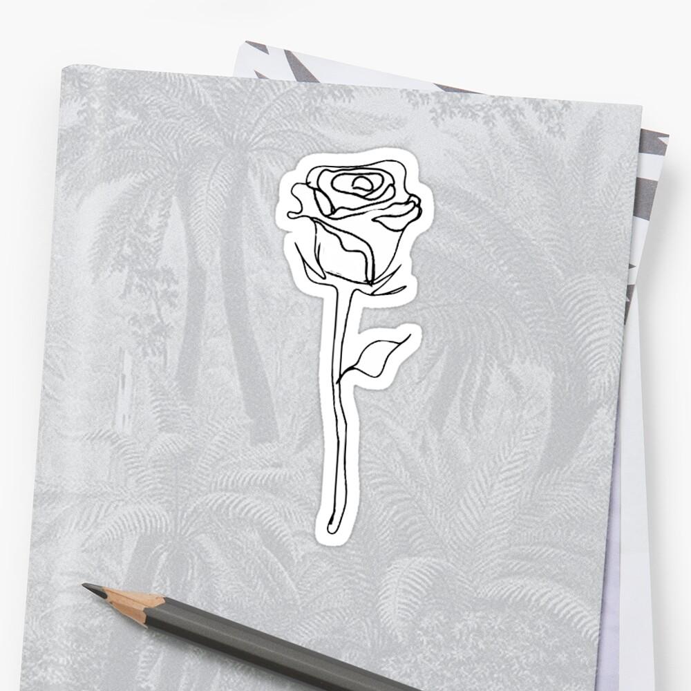 Rose Umriss Sticker