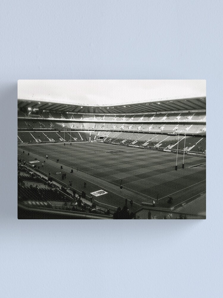 Alternate view of Twickenham. Black and White. Canvas Print
