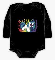 Body de manga larga para bebé Drop the Bass (camisa de rasguño de vinilo)