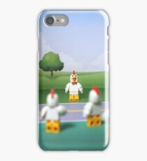 Chicken Suit Guy - Crossing the Road iPhone Case/Skin