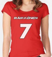 Raikkonen 7 Women's Fitted Scoop T-Shirt