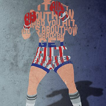 Rocky Balboa From Rocky Typography Quote Design by GrantP93