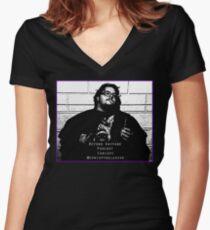 Chrispy Mugshot - Beyond Kayfabe Podcast Women's Fitted V-Neck T-Shirt