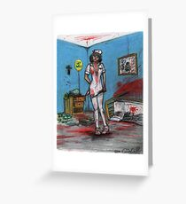 Get Well Soon - Zombie Nurse Greeting Card