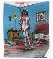 Get Well Soon - Zombie Nurse Poster