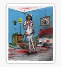 Get Well Soon - Zombie Nurse Sticker