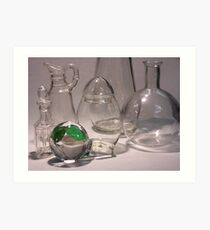 Clear Glass, with Green 01 Art Print