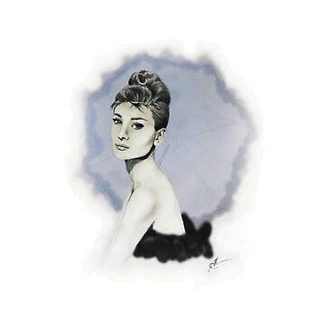 Audrey Hepburn by jennamarieanne