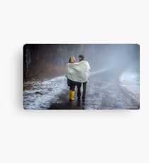 Lovers in the Mist Canvas Print