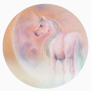 Unicorn & Moon by jennamarieanne