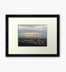 Dungeness Clouds Framed Print