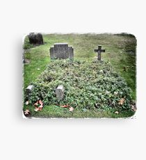 Love on a headstone Canvas Print