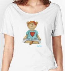 Marion live love yoga bear Women's Relaxed Fit T-Shirt