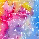 Math formulae (watercolor background) by funmaths