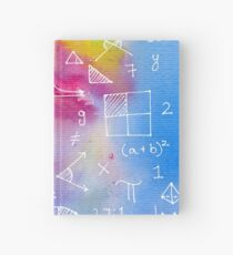 Math formulae (watercolor background) Hardcover Journal