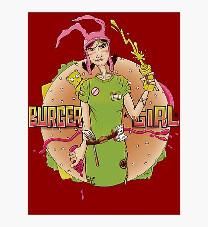 Burger Girl Photographic Print
