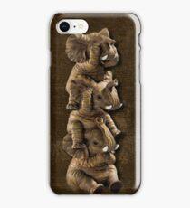 ELEPHANTS...SEE NO EVIL..HEAR NO EVIL,SPEAK NO EVIL IPHONE CASE  iPhone Case/Skin