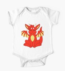 Cute Chibi Red Dragon Kids Clothes