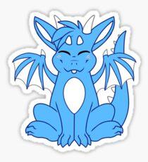 Cute Chibi Blue Dragon Sticker