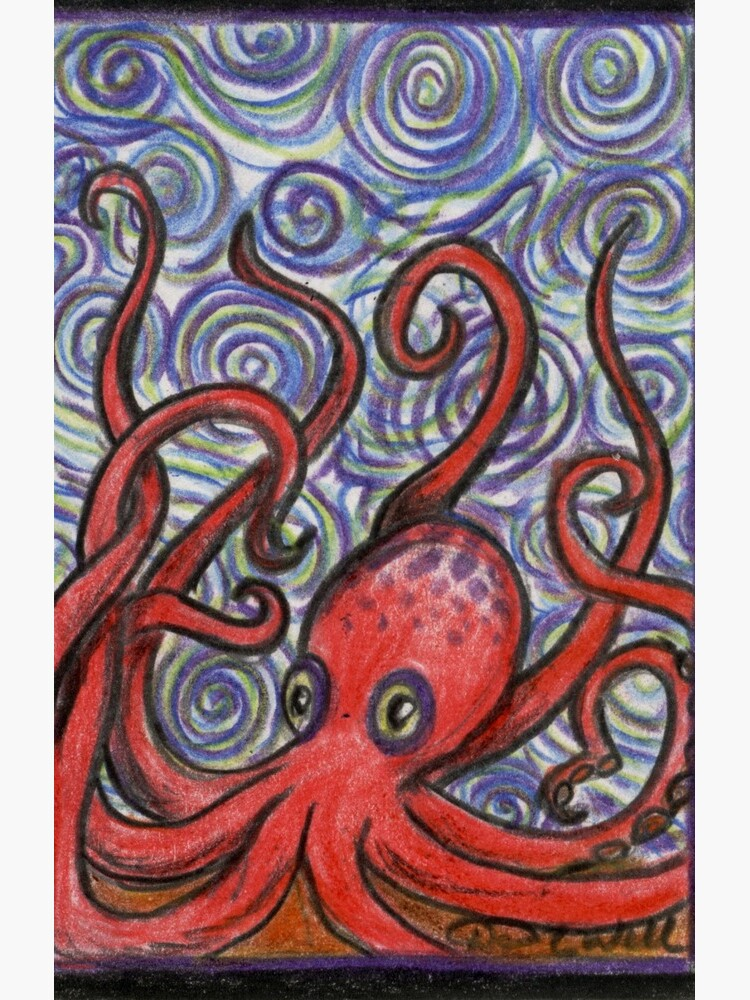 Octopus and Swirls by GraphiteWeb