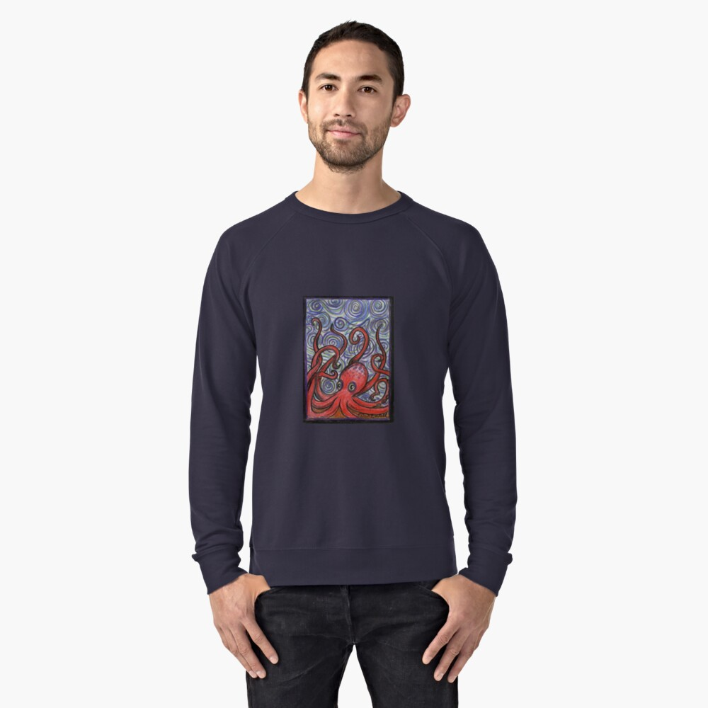 Octopus and Swirls Lightweight Sweatshirt Front
