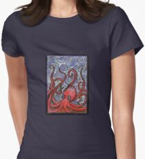 Octopus and Swirls Women's Fitted T-Shirt