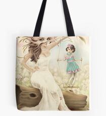 Mother and Daughter on a Peaceful Day Tote Bag