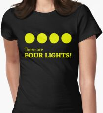 There are FOUR LIGHTS! (Yellow Ink) Women's Fitted T-Shirt
