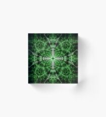 Emerald Plasma Acrylic Block