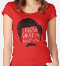I know what im about son Women's Fitted Scoop T-Shirt