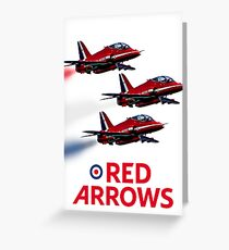 The Red Arrows reach 50 Greeting Card