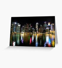 Singapore at night Greeting Card