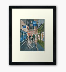 Somewhere In Paris Framed Print