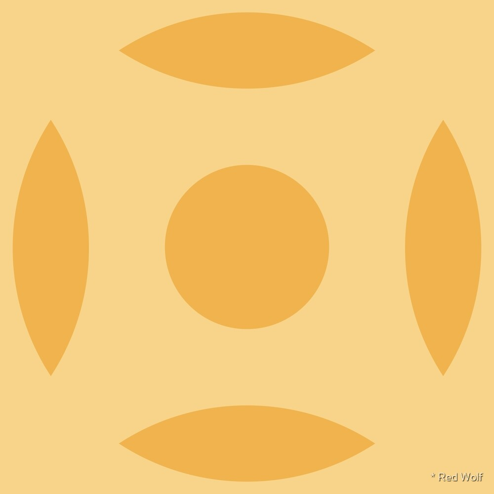 Geometric Pattern: Intersect Circle: Lemon by * Red Wolf
