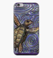 Loggerhead Turtle and Swirls iPhone Case