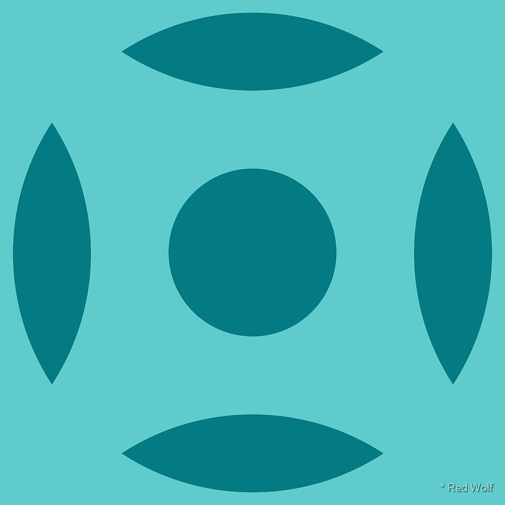 Geometric Pattern: Intersect Circle: Ocean by * Red Wolf