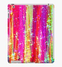 WATERFALLS Abstract Acrylic Pink Purple Ocean Waves Stars Fine Art Painting iPad Case/Skin