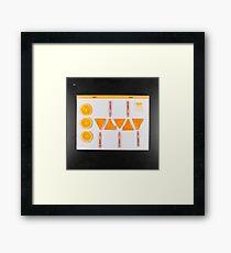 Electrigram-Orange Framed Print