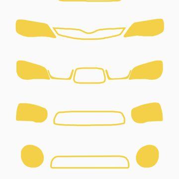 Familia de Subaru Impreza de Venusta