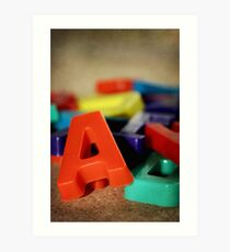 Alphabet Fun Art Print