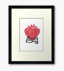Vacancy, Room for Love in this Heart Framed Print