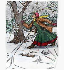 Snowflake Girl Poster