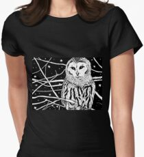 Snowy Night Women's Fitted T-Shirt