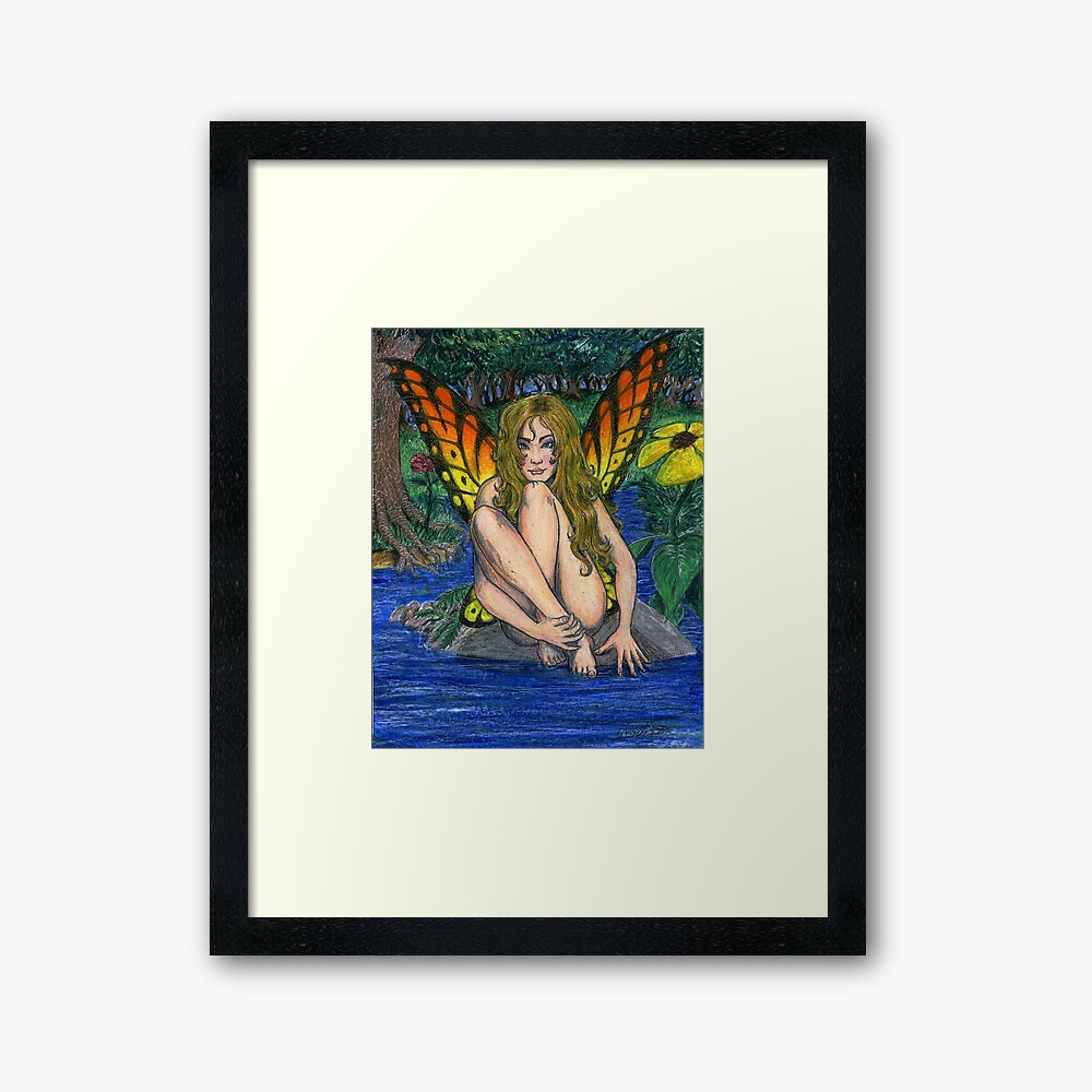 Butterfly Stone Framed Art Print