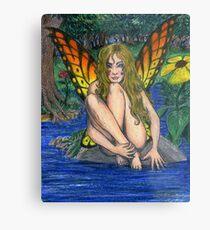 Butterfly Stone Metal Print