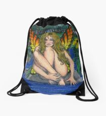 Butterfly Stone Drawstring Bag