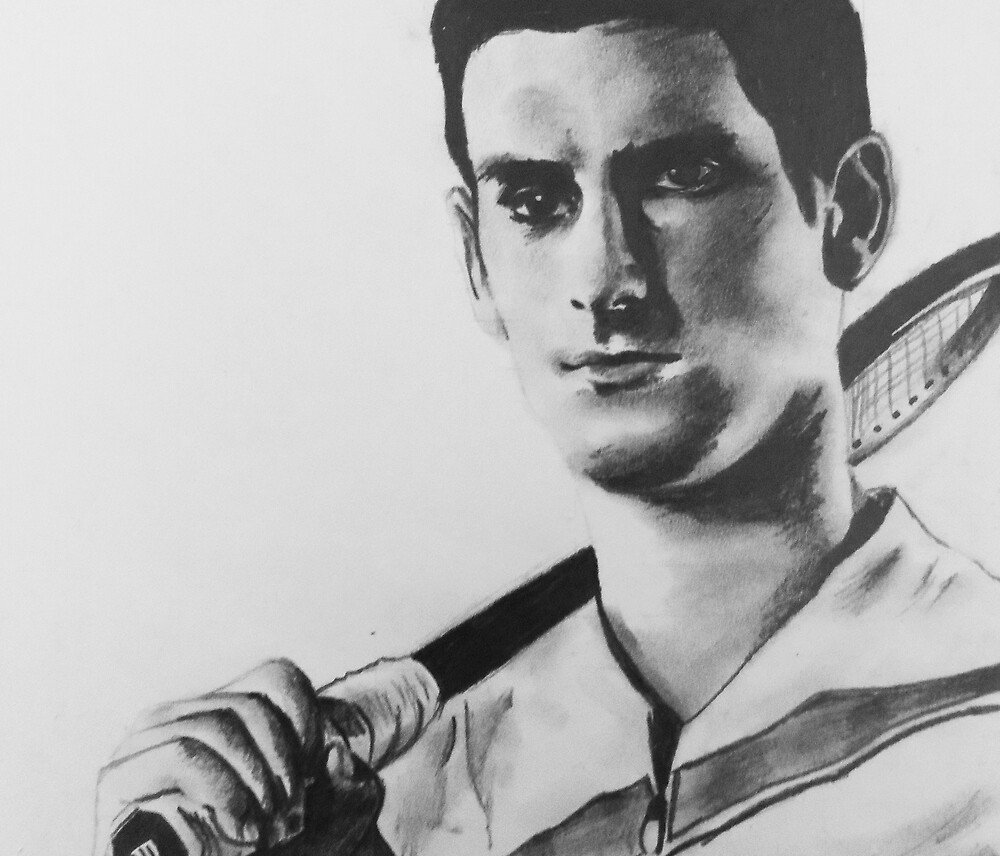 Quot Novak Djokovic Portrait Drawing Quot By Gggraphicdesign