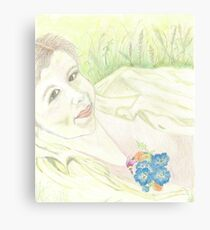 PORTRAIT ON A WILDFLOWER DAY Canvas Print