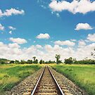 Rockhampton Train Tracks by Sam Frysteen